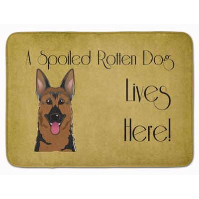 German Shepherd Spoiled Dog Lives Here Memory Foam Bath Rug
