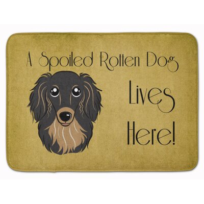 Cobby Long Hair Dachshund Spoiled Dog Memory Foam Bath Rug Color: Black/Tan