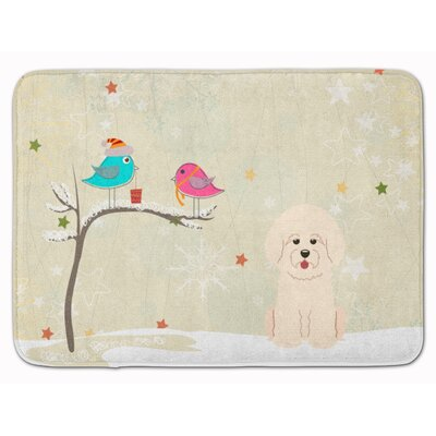 Christmas Presents Friends Bichon Frise Memory Foam Bath Rug