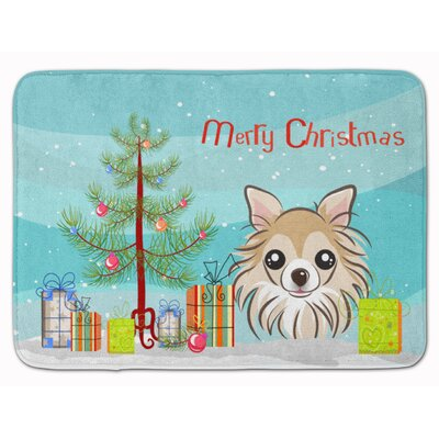 Christmas Tree and Chihuahua Memory Foam Bath Rug