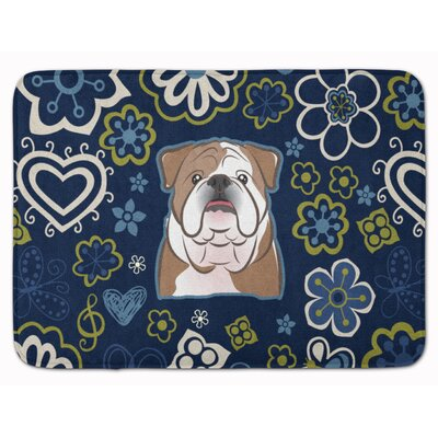 English Bulldog Memory Foam Bath Rug Color: Brown/White