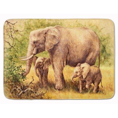 Elephant by Daphne Baxter Memory Foam Bath Rug