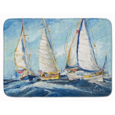Roll Me Over Sailboat Memory Foam Bath Rug