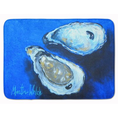 Seagrove Oysters Seafood 4 Memory Foam Bath Rug