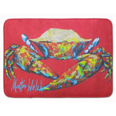 Crab Seafood One Memory Foam Bath Rug