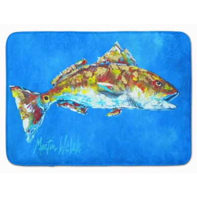 Fish Seafood 2 Memory Foam Bath Rug