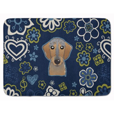 Wirehaired Dachshund Memory Foam Bath Rug