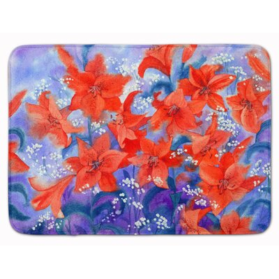 Remington Lillies Memory Foam Bath Rug