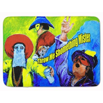 Mardi Gras Throw Me Something Mister Memory Foam Bath Rug