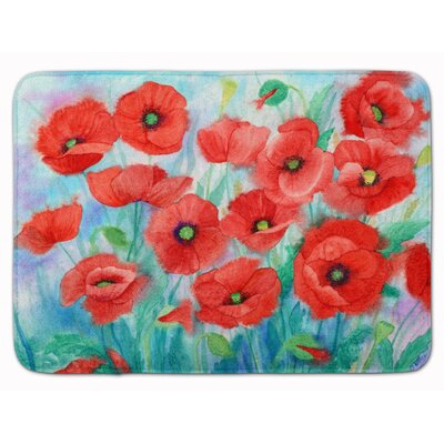 Poppies Memory Foam Bath Rug