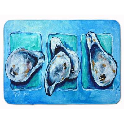 Seagrove Oysters Memory Foam Bath Rug