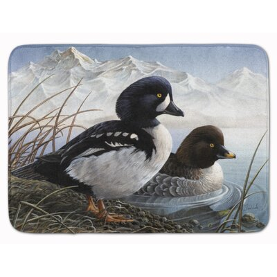 Goldeneye Ducks in the Water Memory Foam Bath Rug