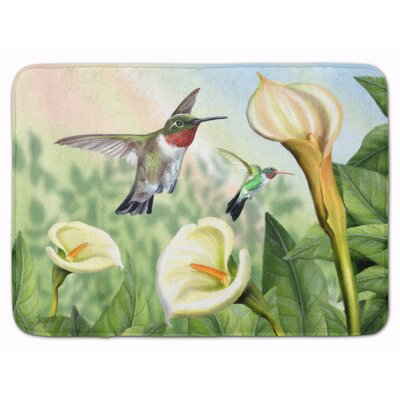 Lily and the Hummingbirds Memory Foam Bath Rug