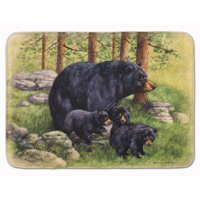 Butterfield Bear by Daphne Baxter Memory Foam Bath Rug