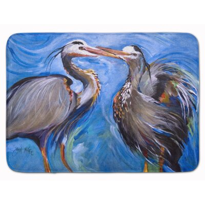 Heron Love Memory Foam Bath Rug