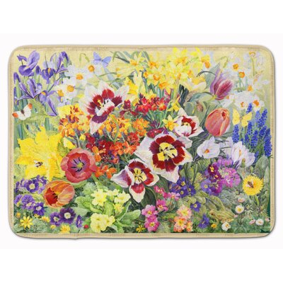 Spring Floral by Anne Searle Memory Foam Bath Rug