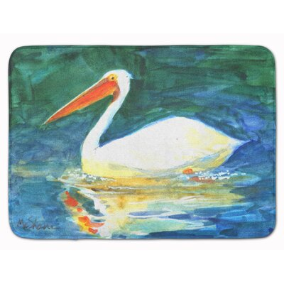 Bird Pelican Memory Foam Bath Rug