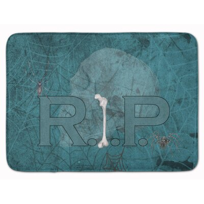RIP Rest in Peace with Spider Halloween Memory Foam Bath Rug