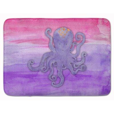 Wesley Octopus Watercolor Memory Foam Bath Rug