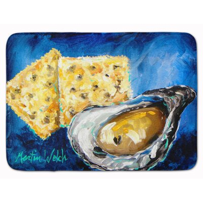 Seagrove Oysters Two Crackers Memory Foam Bath Rug