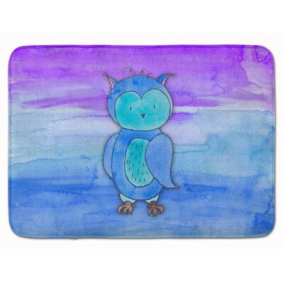 Owl Watercolor Memory Foam Bath Rug