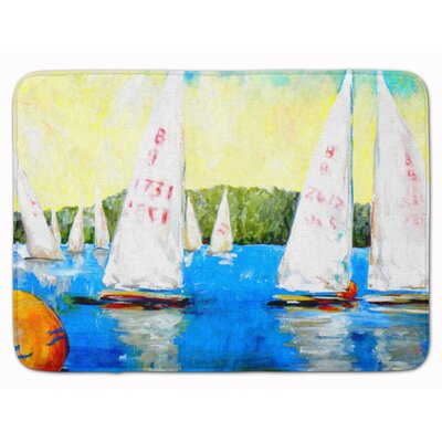Sailboats Round the Mark Memory Foam Bath Rug