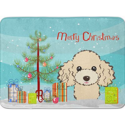 Christmas Tree Poodle Memory Foam Bath Rug Color: Beige