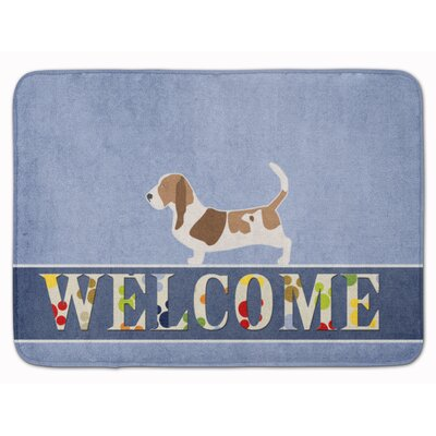 Basset  Hound Welcome Memory Foam Bath Rug
