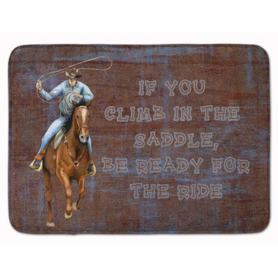 Roper Horse be ready for the ride Memory Foam Bath Rug