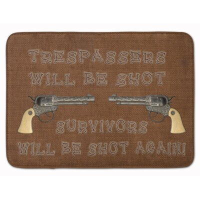 Tresspassers will be shot Memory Foam Bath Rug