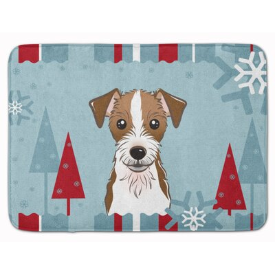 Winter Holiday Jack Russell Terrier Memory Foam Bath Rug