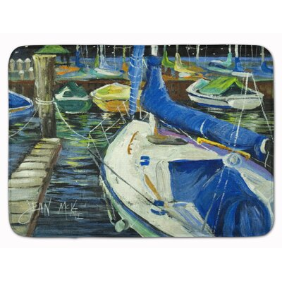 Sailboat Night on the Docks Memory Foam Bath Rug