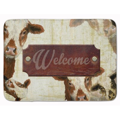 Welcome cow Memory Foam Bath Rug