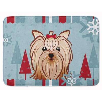 Winter Yorkshire Terrier Memory Foam Bath Rug