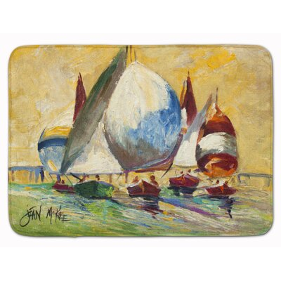 Sailboat Bimini Sails Memory Foam Bath Rug