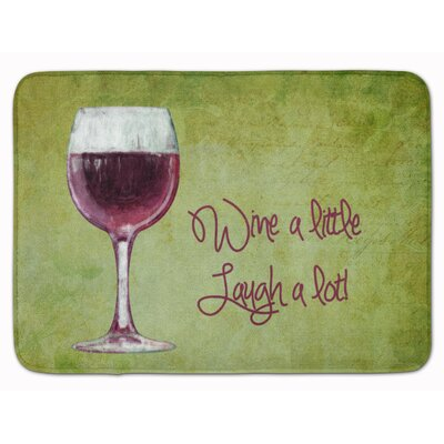 Wine a little laugh a lot Memory Foam Bath Rug