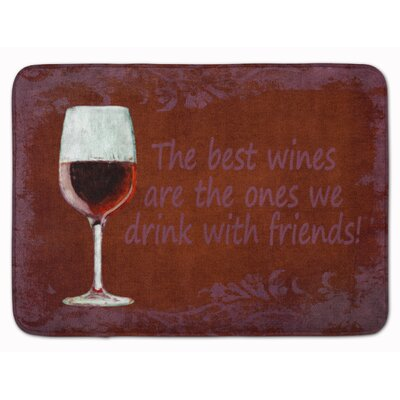 Ridgeway The best Wines Are The Ones With Friends Memory Foam Bath Rug