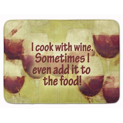 I cook with wine Memory Foam Bath Rug