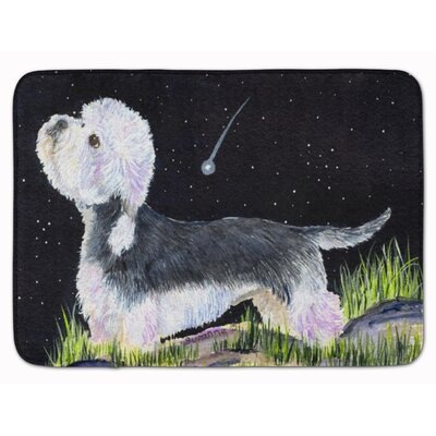 Starry Night Dandie Dinmont Terrier Memory Foam Bath Rug
