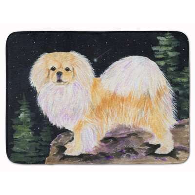 Starry Night Tibetan Spaniel Memory Foam Bath Rug