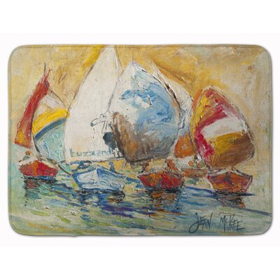Sailboat Buzzards Race Memory Foam Bath Rug