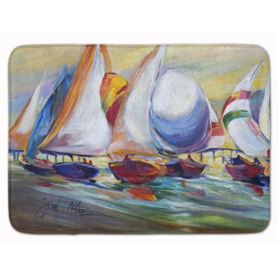 Sailboat Race in Dauphin Island Memory Foam Bath Rug