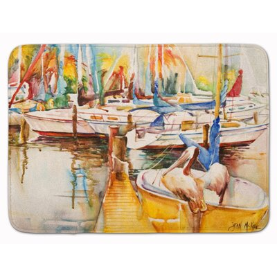 Sailboat�with Pelican Golden Days Memory Foam Bath Rug