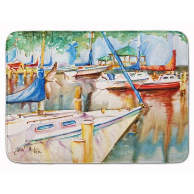 Sailboat at the Gazebo Memory Foam Bath Rug