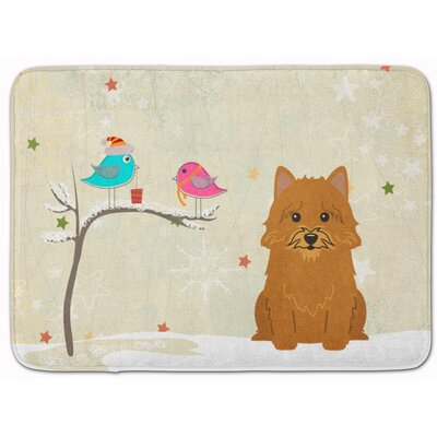Christmas Presents Norwich Terrier Memory Foam Bath Rug
