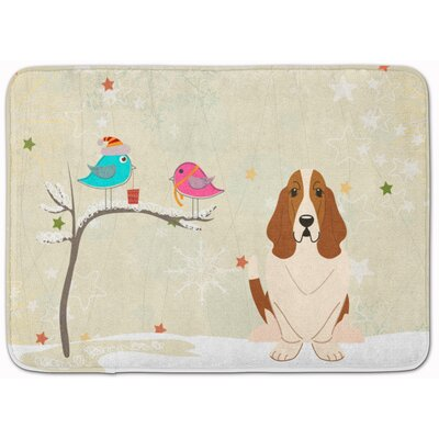 Christmas Presents Friends Basset Hound Memory Foam Bath Rug