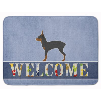 Toy Fox Terrier Welcome Memory Foam Bath Rug