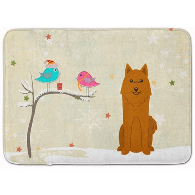 Christmas Presents Karelian Bear Dog Memory Foam Bath Rug