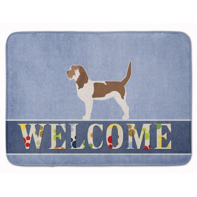 Grand Basset Griffon Vendeen Welcome Memory Foam Bath Rug