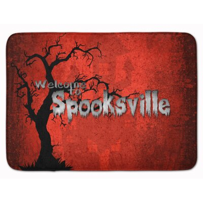 Welcome to Spooksville Halloween Memory Foam Bath Rug